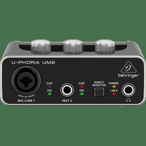 UM2  U-PHORIA   AUDIOPHILE 2x2 USB INTERFAZ DE AUDIO CON PREAMPS XENYX   BEHRINGER