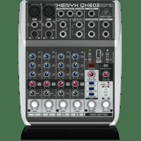 QX602MP3   XENYX CONSOLA DE 6-ENTRADAS (2-XLR)  2-BUSES, MP3 PLAYER,  EFECTOS KLARK TEKNIK  BEHRINGE