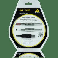 """LINE 2 USB  CABLE INTERFACE DE PLUG 1/4"""" LINE A USB   BEHRINGER"""