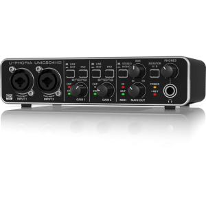 UMC204HD  U-PHORIA AUDIOPHILE 2x4, 24-Bit/196 kHz USB MIDI INTERFAZ DE AUDIO CON PREAMPS MIDAS   BE