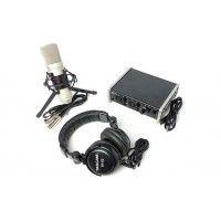 US-2X2TP TRACKPACK 2X2   RECORDING PACK  SET DE INTERFAZ, MICROFONO Y AUDIFONOS   TASCAM