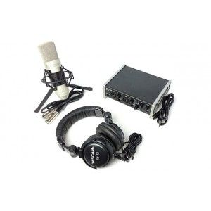 US-2X2TP TRACKPACK 2X2   RECORDING PACK  SET DE INTERFAZ, MICROFONO Y AUDIFONOS   TASCAM