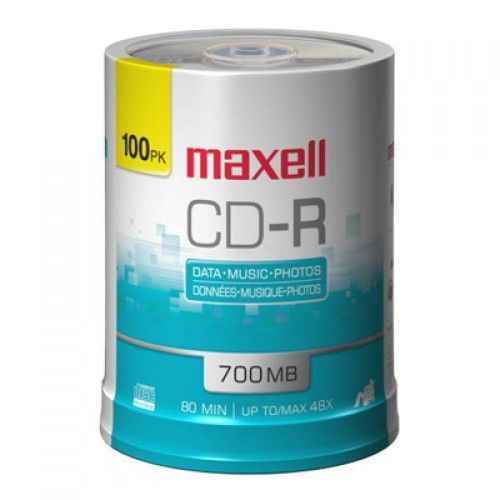 CD-R 700MB MAXELL TORRE  100UN