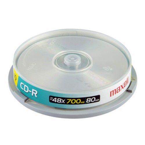 CD-R MAXELL 700MB TORRE DE 10 UN