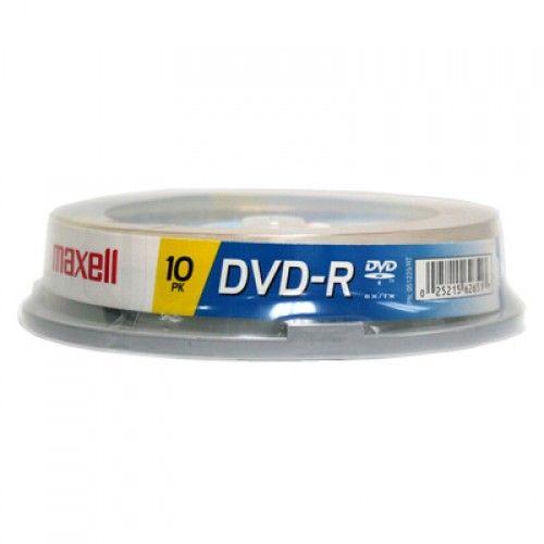 DVD-R MAXELL  4.7GB TORRE DE  10UN