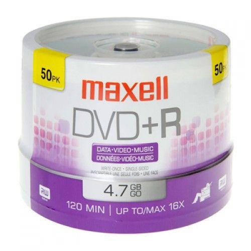 DVD+R MAXELL 16X TORRE DE 50UN