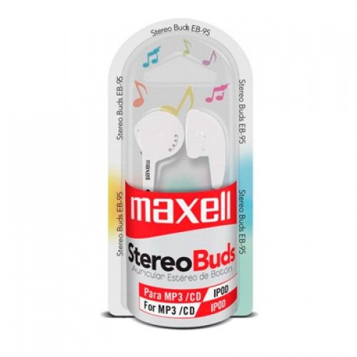 AUDIFONO STEREO BUDS MAXELL BLANCO